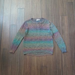 Multi color chunky knit sweater